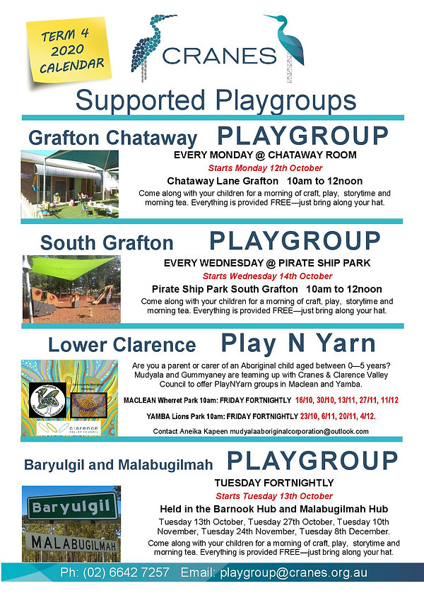 New Term 4 2020 Supported Playgroups-pag