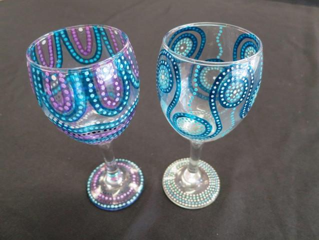 Wine Glass - By Raylene Mirindo - Painter