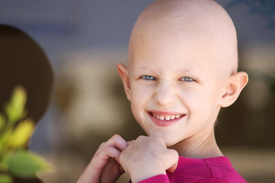 beautiful girl fighting cancer