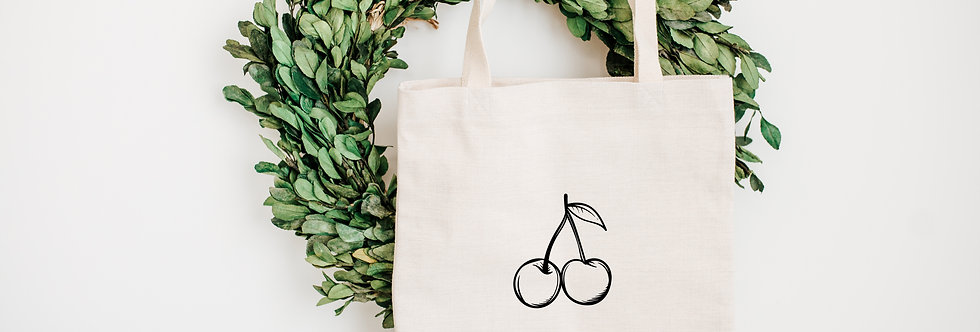 Tote bag Little Cherry