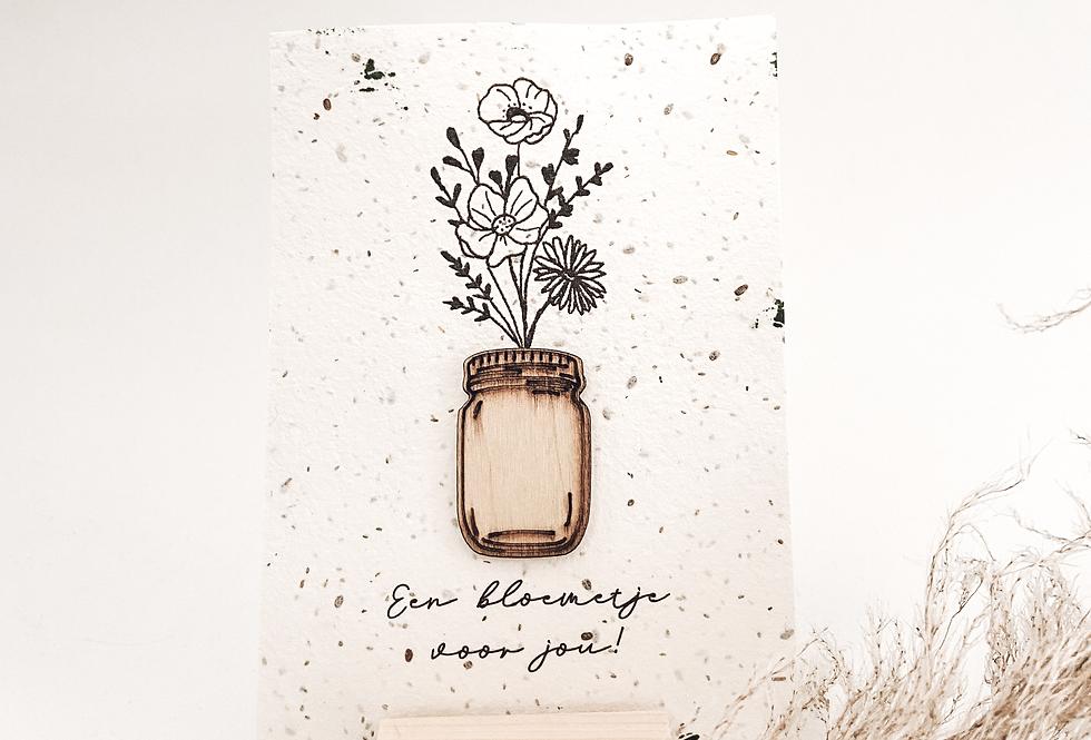 Kaart 'Een bloemtje voor jou'