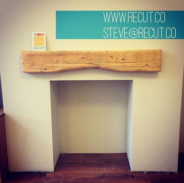 Made and installed this #mantle from a #