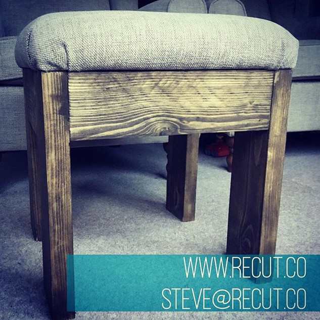 Great fun making this #footstool and a s