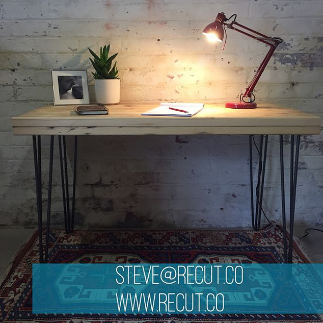 A #hairpin #desk made from #reclaimed #s