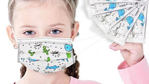 折后$10.99  儿童一次性三层口罩, 单独包装50pcs