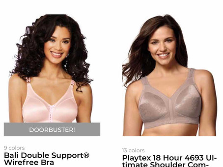 Bali Meidenform, Playtex Bra big Sales