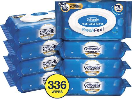 Amazon 补货【$14.49 Prime包邮】Cottonelle 可冲湿巾 336片