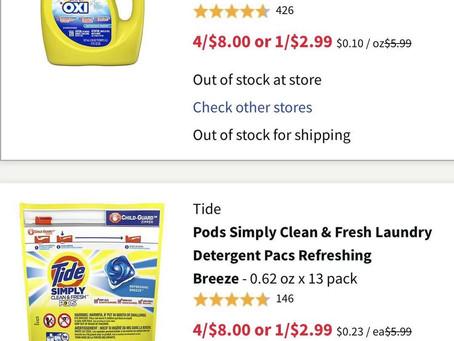 买吧,$8拿到4瓶Tade汰渍洗衣液和13粒洗衣球