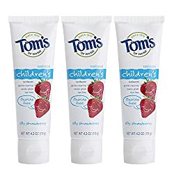 Amazon 3 for $7.39 Tom's of Maine Fluoride-Free Children's Toothpaste,