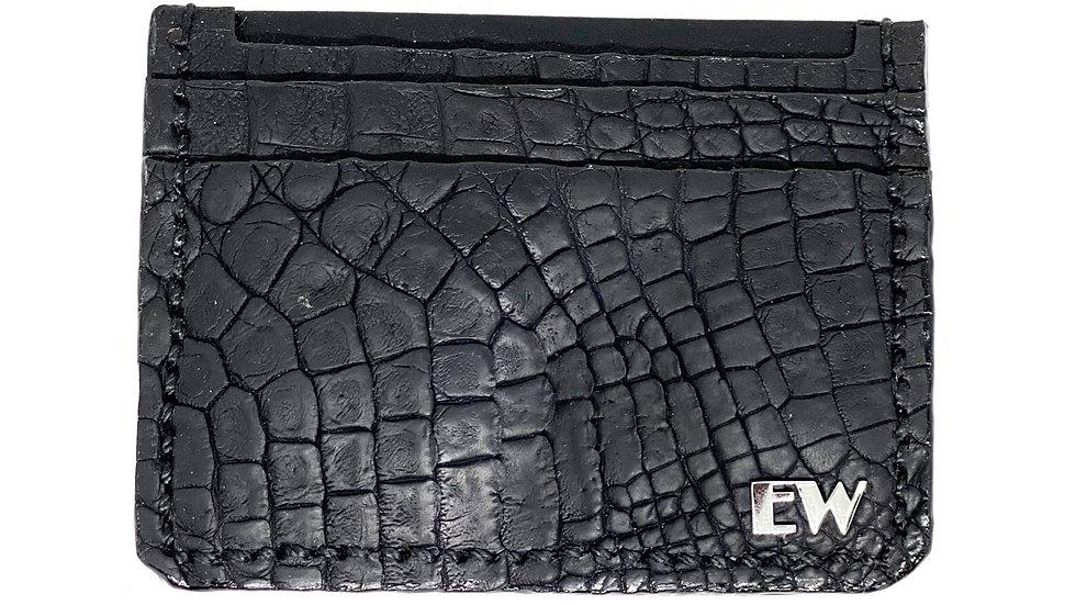 Porta Carão Exotic Caiman - Horn Back I - na cor preta
