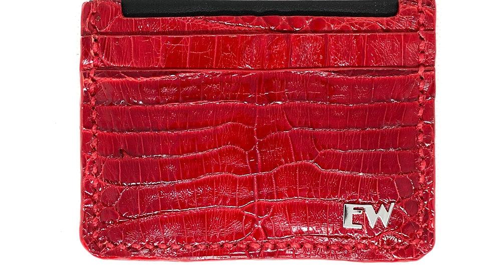 विदेशी काइमन कार्ड धारक - पेट - लाल रंग में