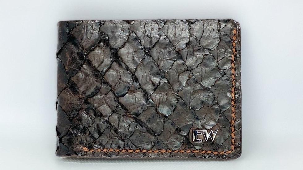 محفظة Pirarucu الغريبة - بني
