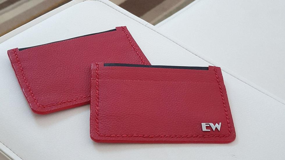 Porta Cartão Exotic Bovino -  Red