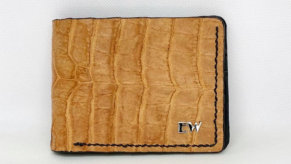 Carteira  Exotic Caiman - Belly - na cor telha