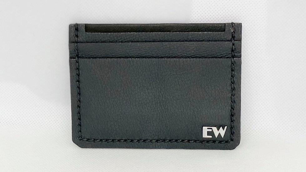 Porta Cartão Exotic Bovino - Black