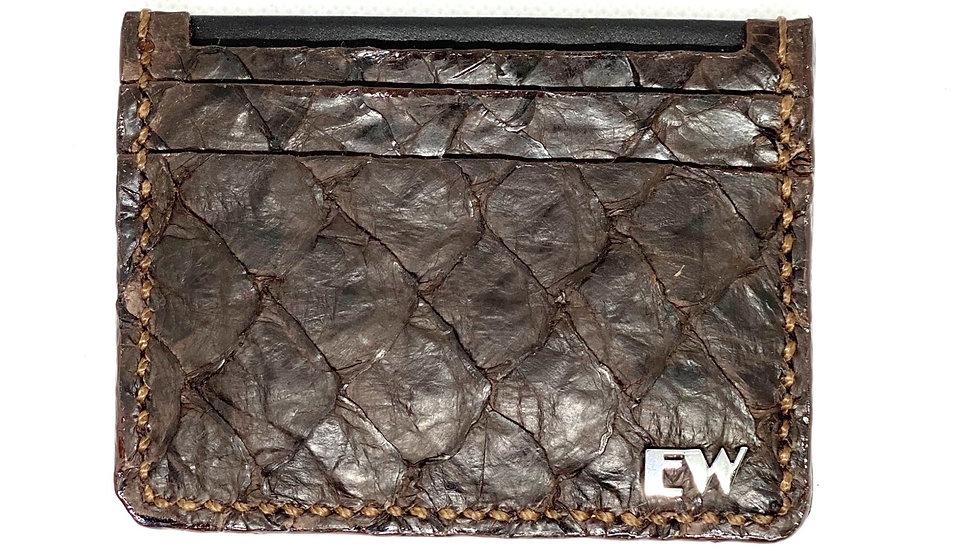 Porta Cartão Exotic Pirarucu - na cor marrom