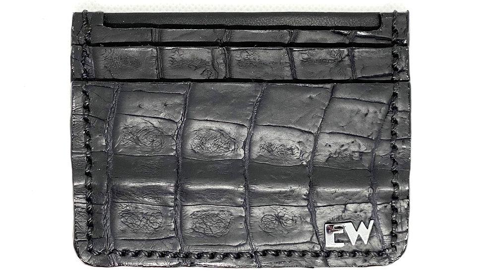विदेशी काइमन कार्ड धारक - पेट - काले रंग में