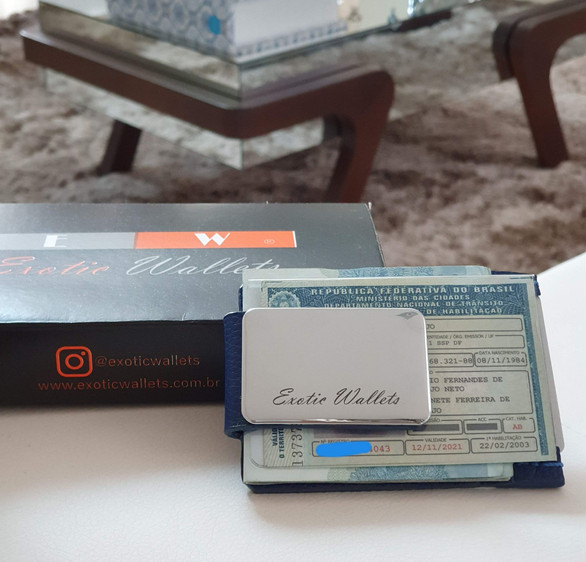 Porta Cartão Clipe Money