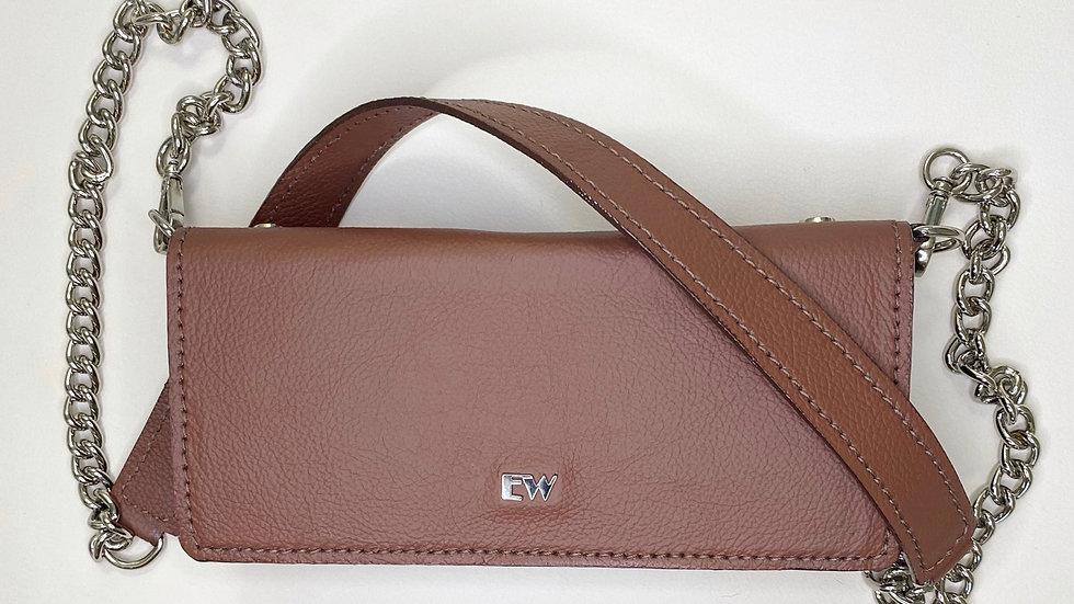 Exotic Wallets Bovine Bag - هافانا مع معادن فضية