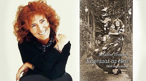 """Schäffer Erzsébet """"Káprázat az élet"""" című könyve, benne a cikk Bán Lilláról: """"Szerzetes kisbabával""""."""