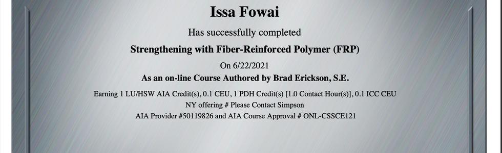 FRP Strengthening Certification