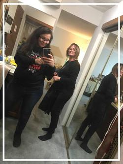 Nevaeh & I hard at work!