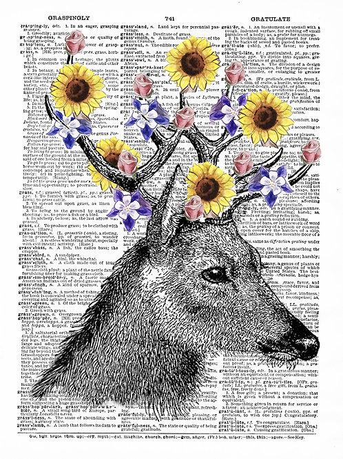 Flower Deer - AW00022