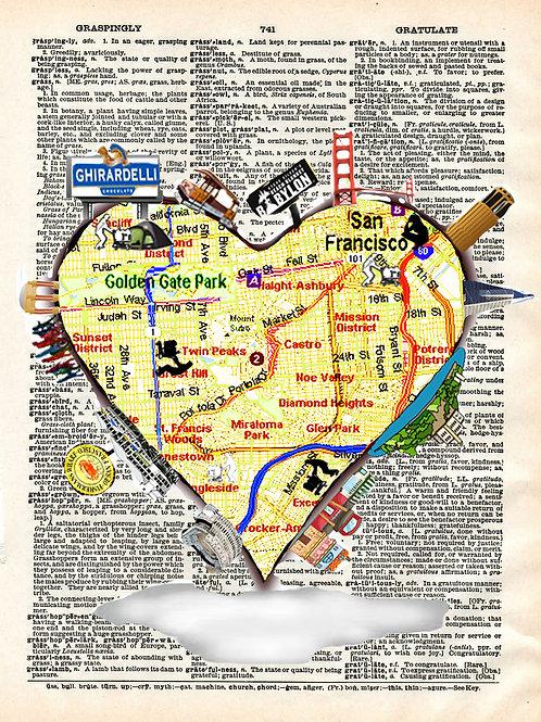 SF Heart ( We Like SF ) - AW00252