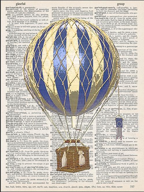 Blue Air Balloon - AW00620