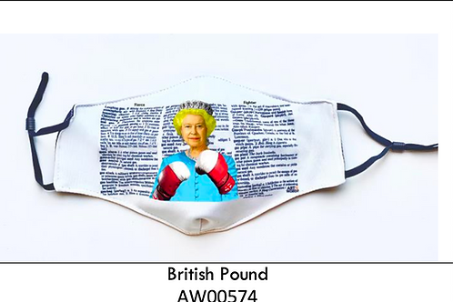 British Pound FACE MASK