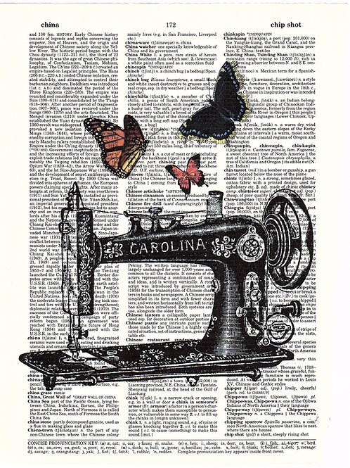 Sewing Machine Butterfly - AW00086