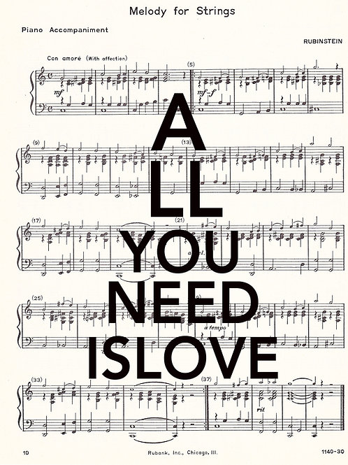 All You Need Is Love ( Sheet Music ) - AW00135