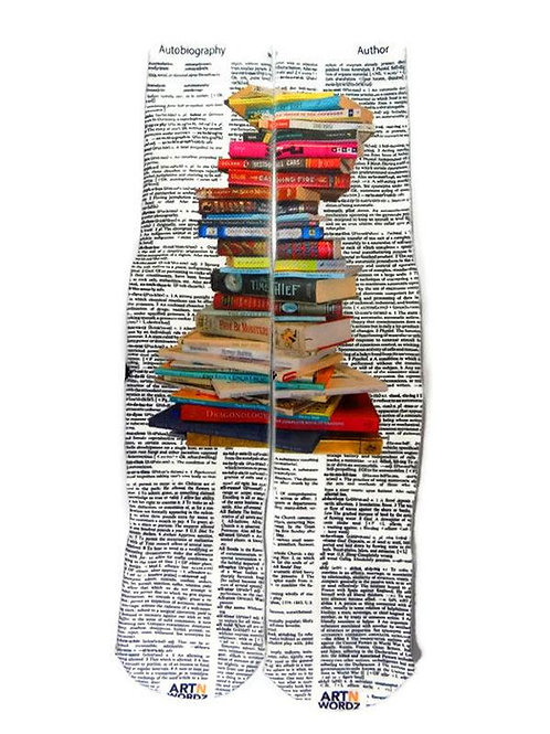 Stacked Books socks