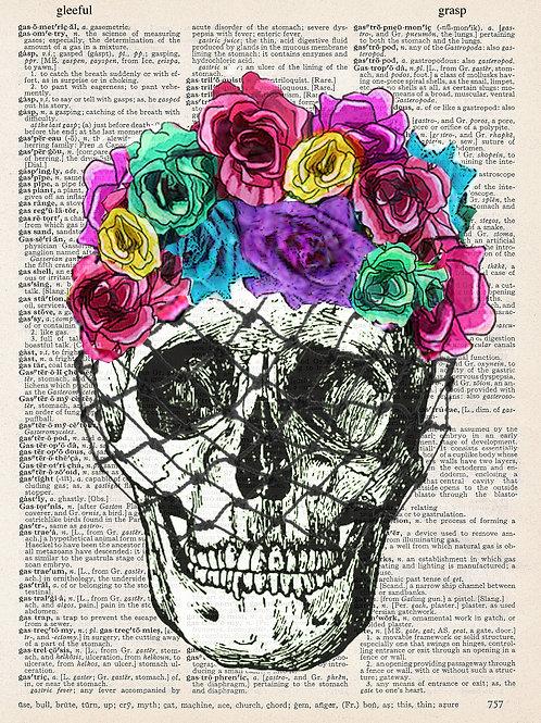 Flower Skull - AW00374