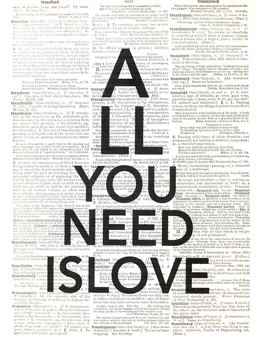 All You Need Is Love - AW00360