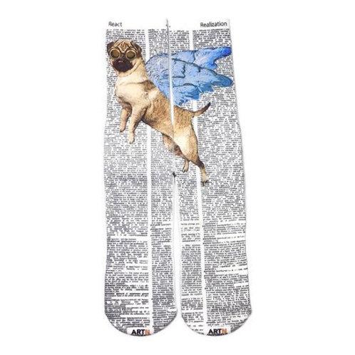 Flying Pug socks