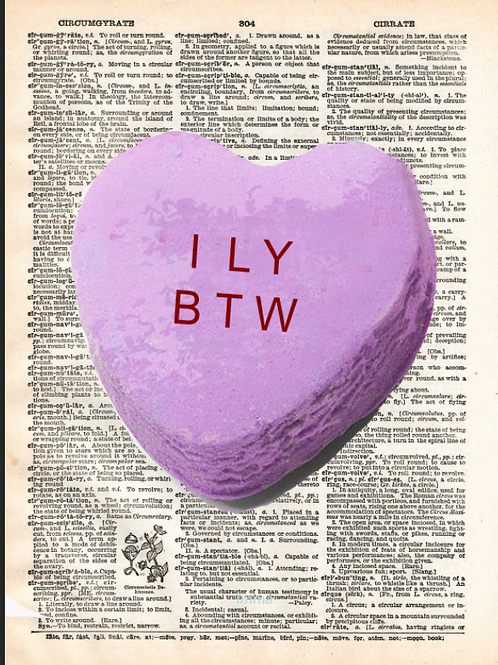 Candy Heart (ILY BTW) - AW00602