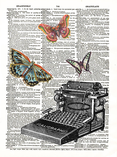 Butterfly Typewriter - AW00049