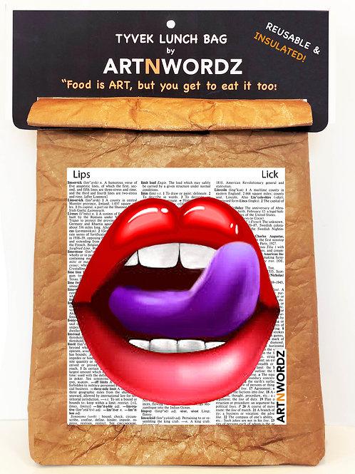 Purple Lips LUNCH BAG
