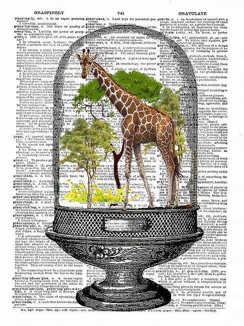 Giraffe Glass - AW00089