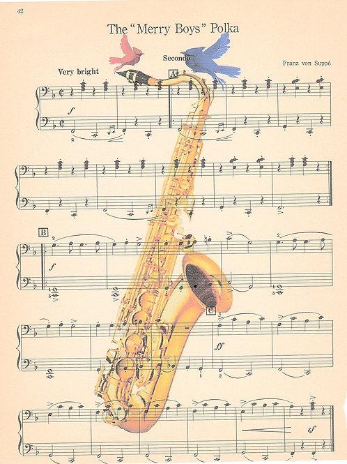 Saxophone Birds - AW00164