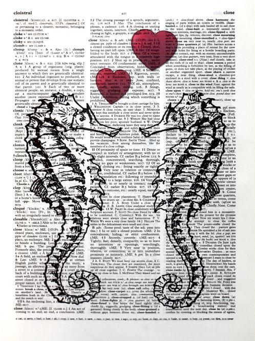 Seahorse Hearts - AW00134