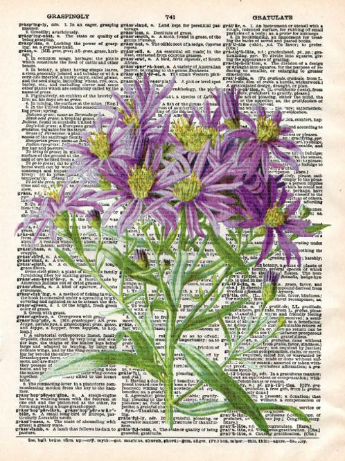 Purple Flowers - AW00182