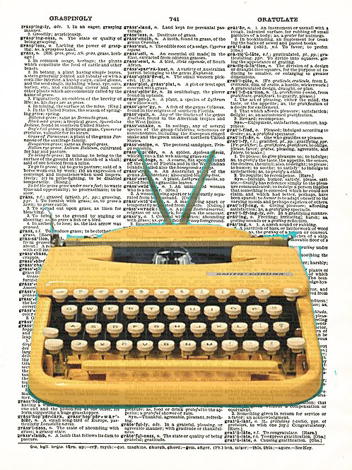 Yellow Typewriter - AW00118