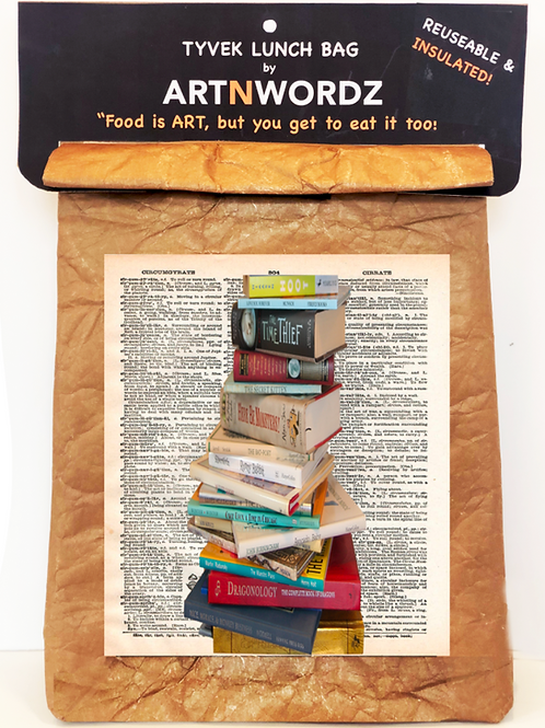 Stacked Books Lunch Bag