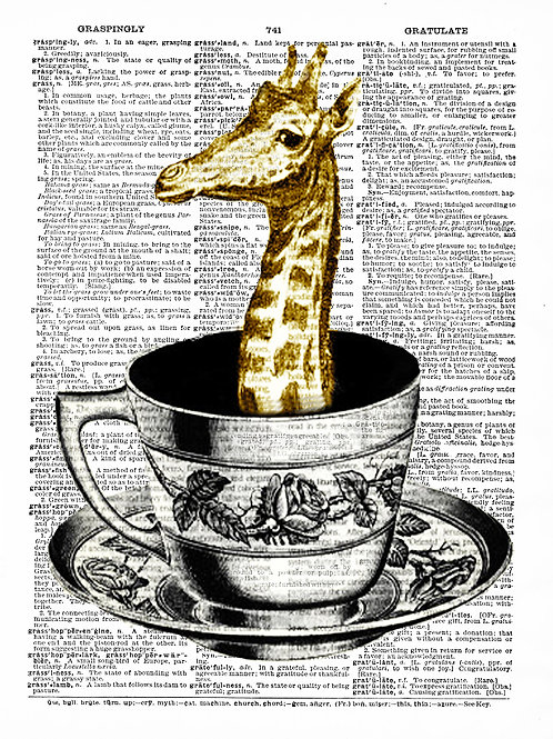 Tea Cup Giraffe - AW00088