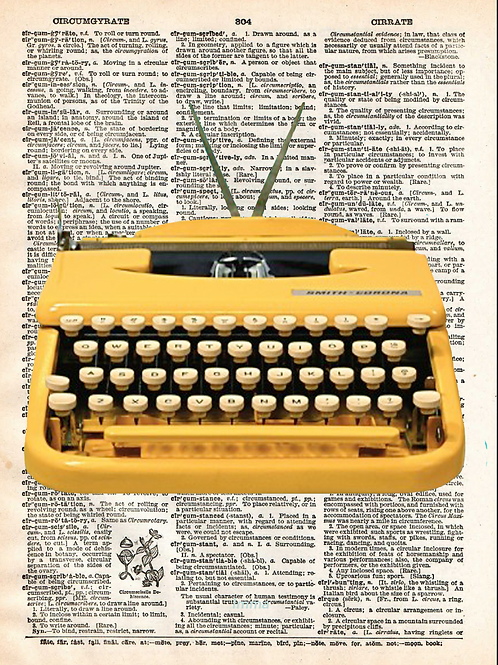 Yellow Typewriter - AW00118