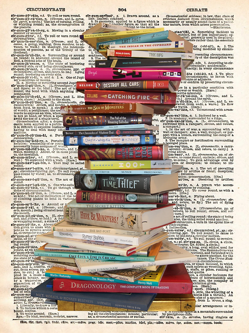 Stacked Books - AW00115