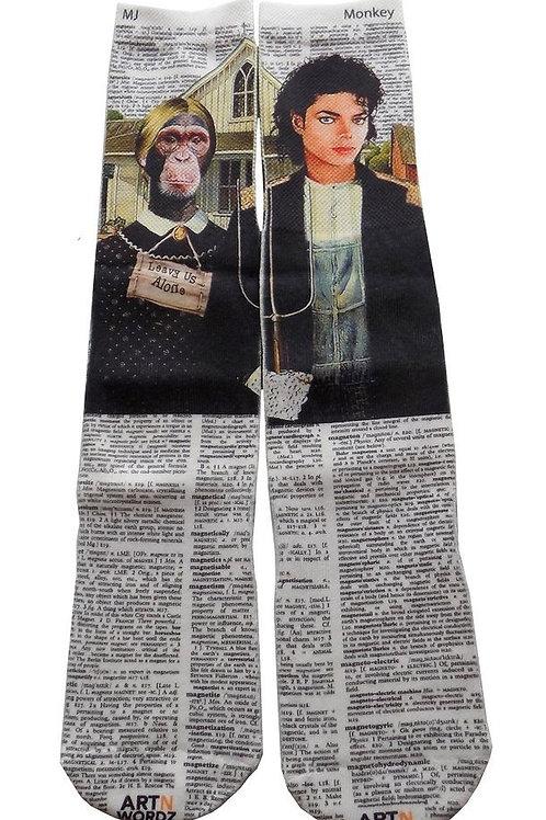 Leave us alone socks (Tribute to MJ )