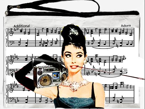 Audrey's Beats - Sheet Music Clutch /pouch